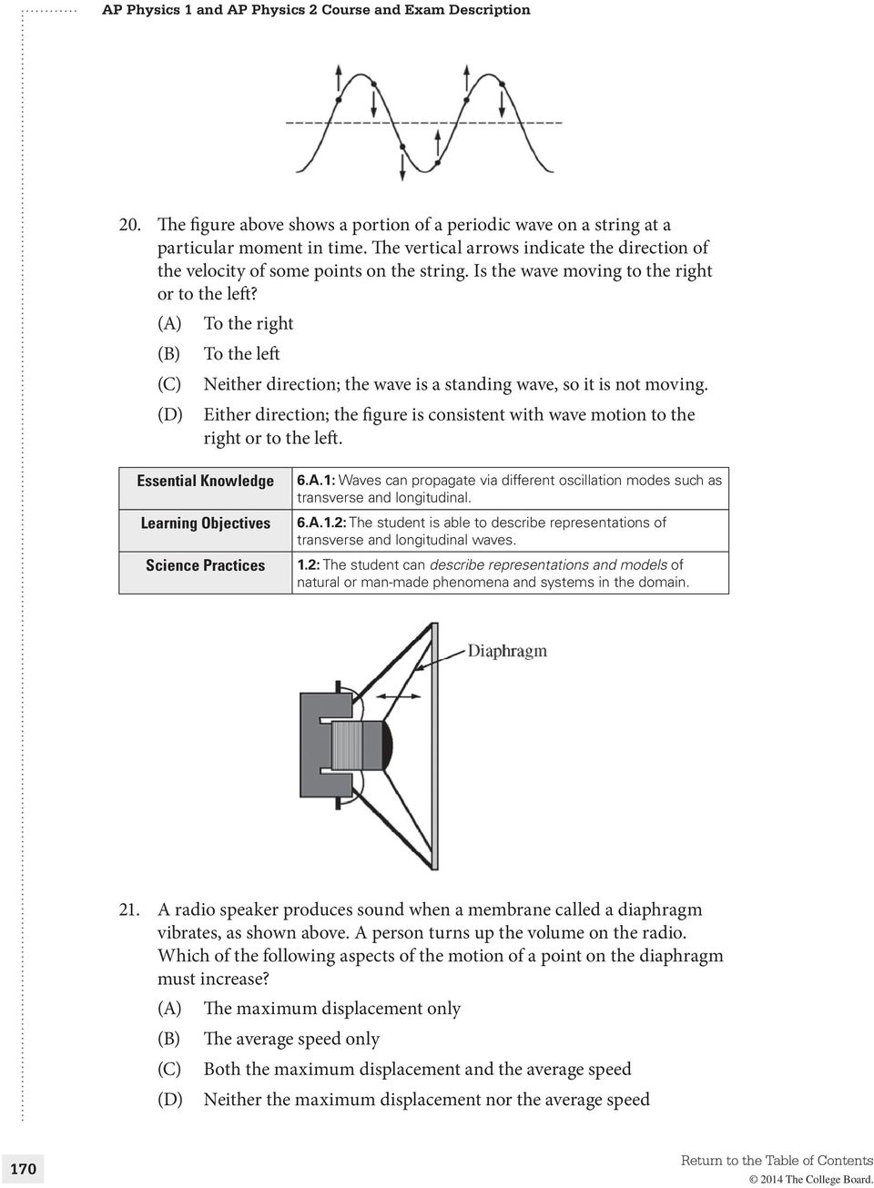 Sample Questions for the AP Physics 1 Exam - PDF