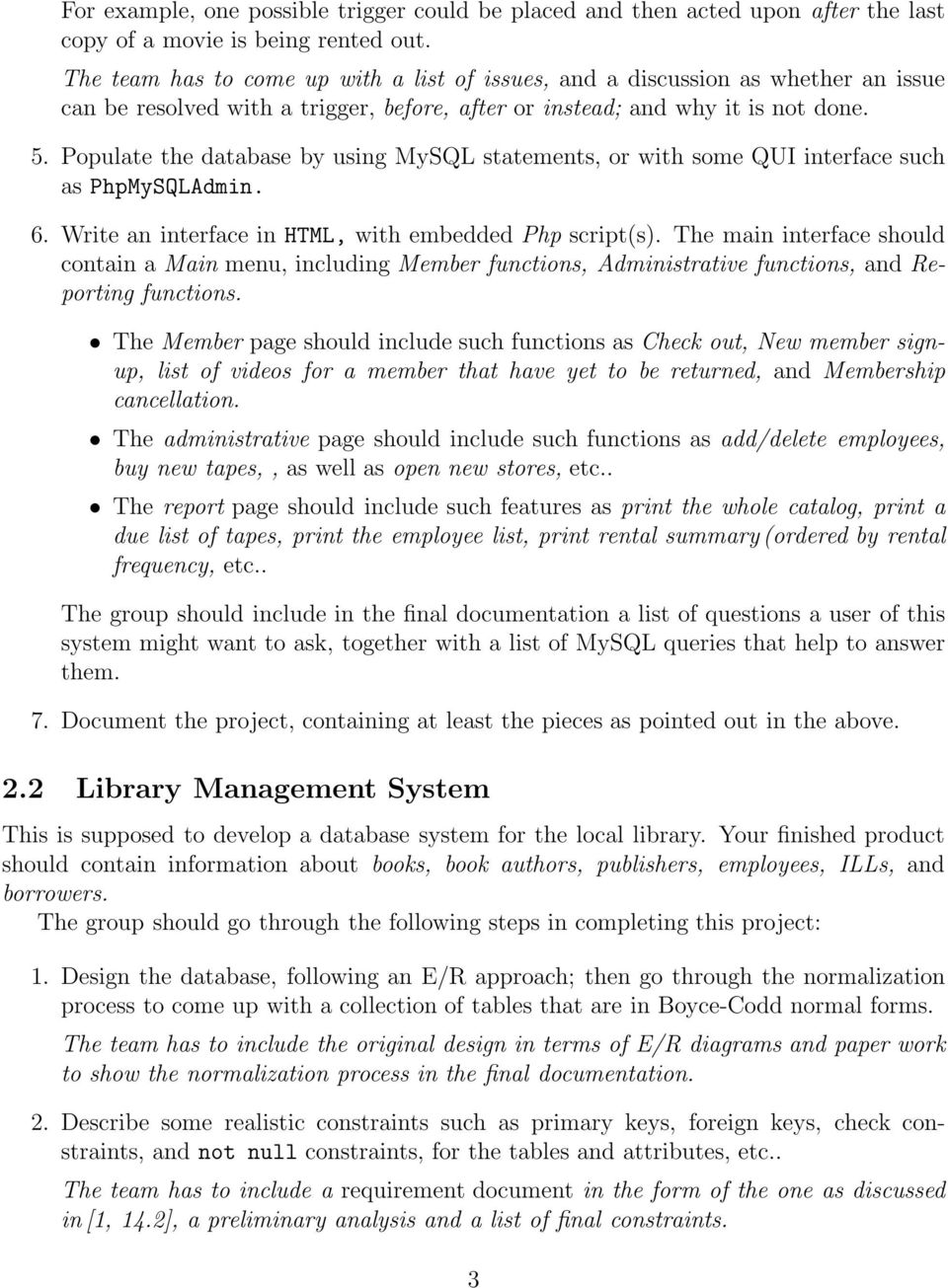 Database Programming Project Proposals - PDF Free Download