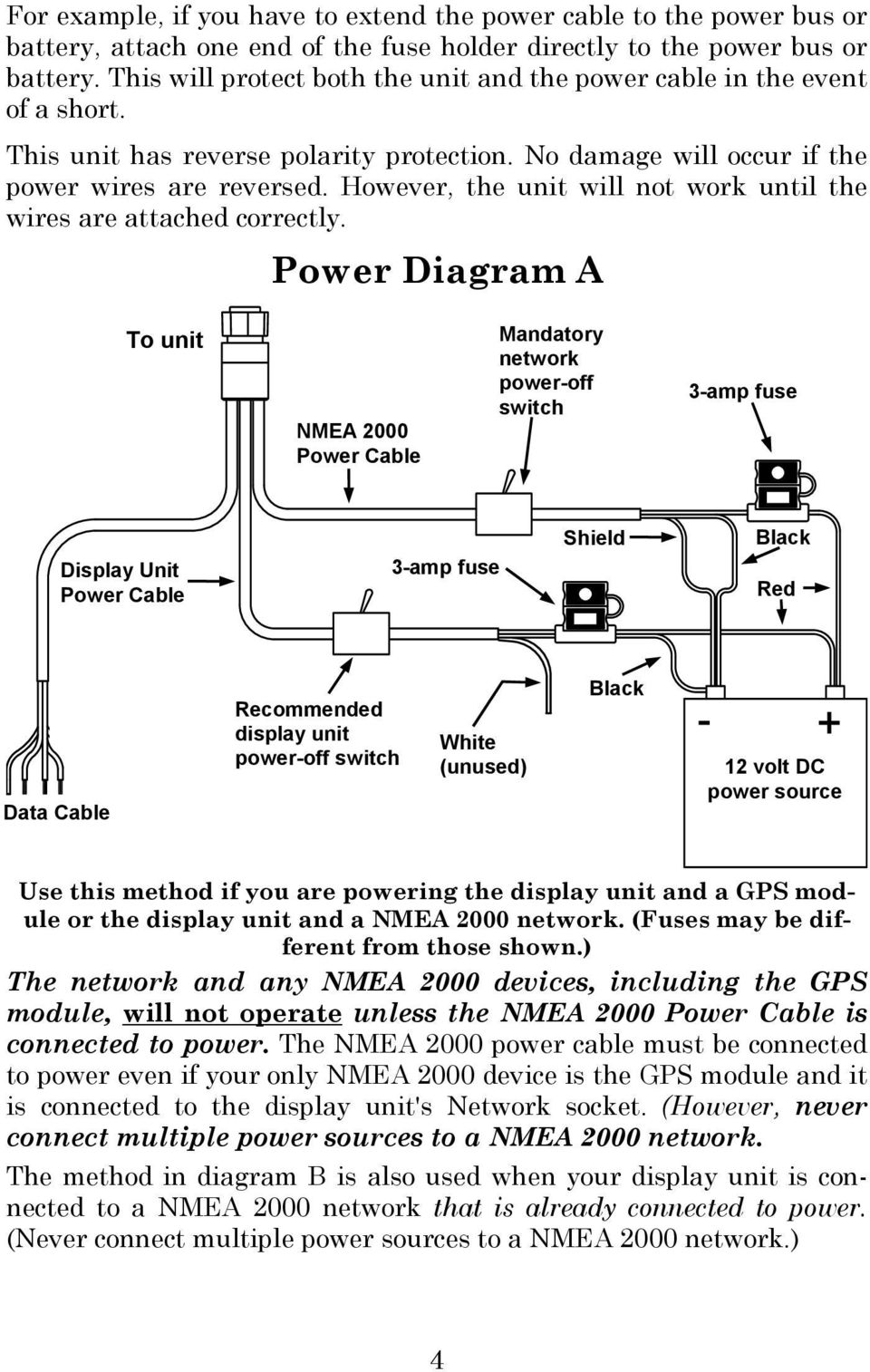 Lms 480m 480df Globalmap 4800m Pdf Nmea 2000 T Connector Wiring Diagram However The Unit Will Not Work Until Wires Are Attached Correctly