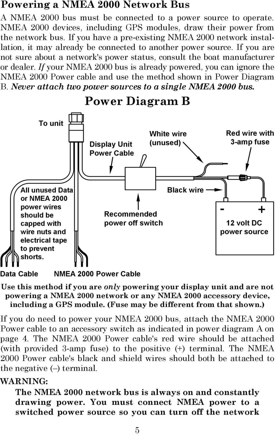 Lms 480m 480df Globalmap 4800m Pdf Wire That Goes Through The Switch And Cap Off Unused Attached If You Are Not Sure About A Networks Power Status Consult Boat Manufacturer Or