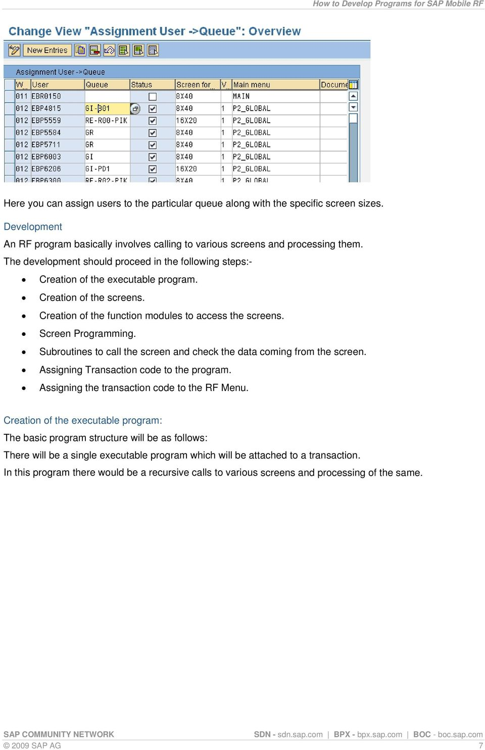 How to Develop Programs for SAP Mobile RF - PDF