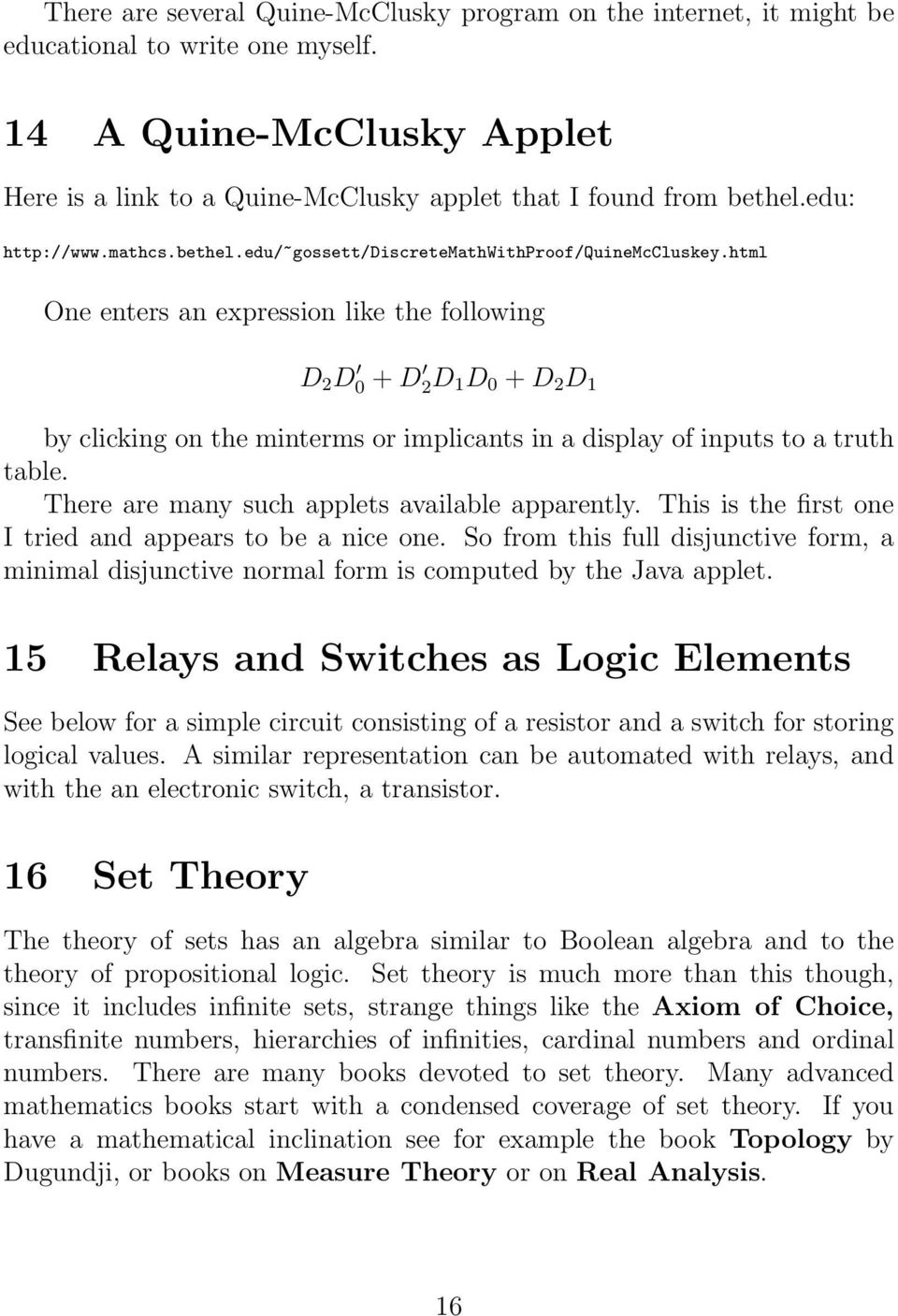 Logic Boolean Algebra And Digital Circuits Pdf Electronic Circuit Java Applet Html One Enters An Expression Like The Following D 2 0 2d 1