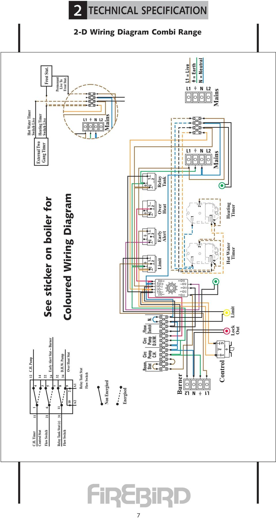 Combi Range Installation Commissioning Servicing User Instructions Heat Relay Wiring Diagram C 2 1 Control Lock Out