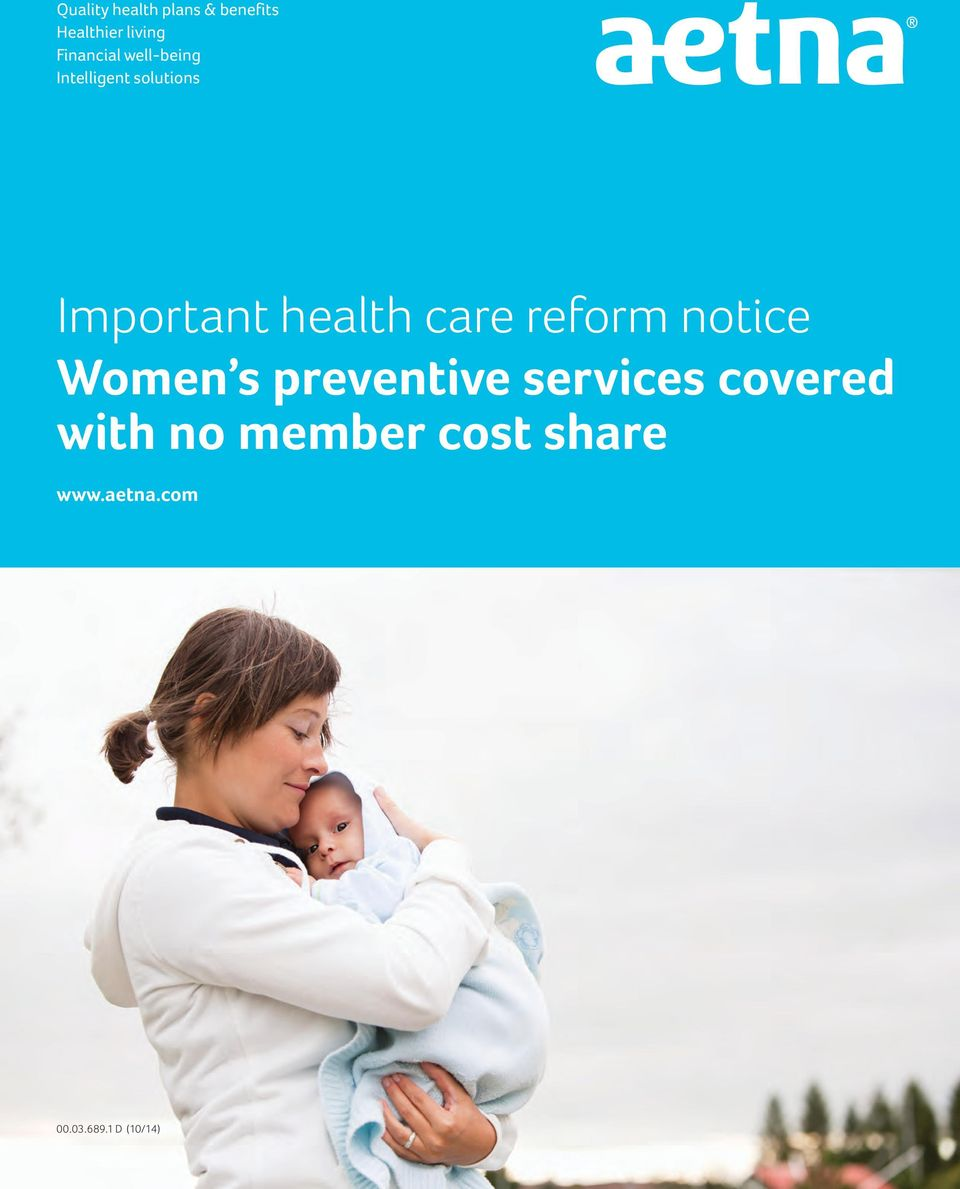 health care reform notice Women s preventive services