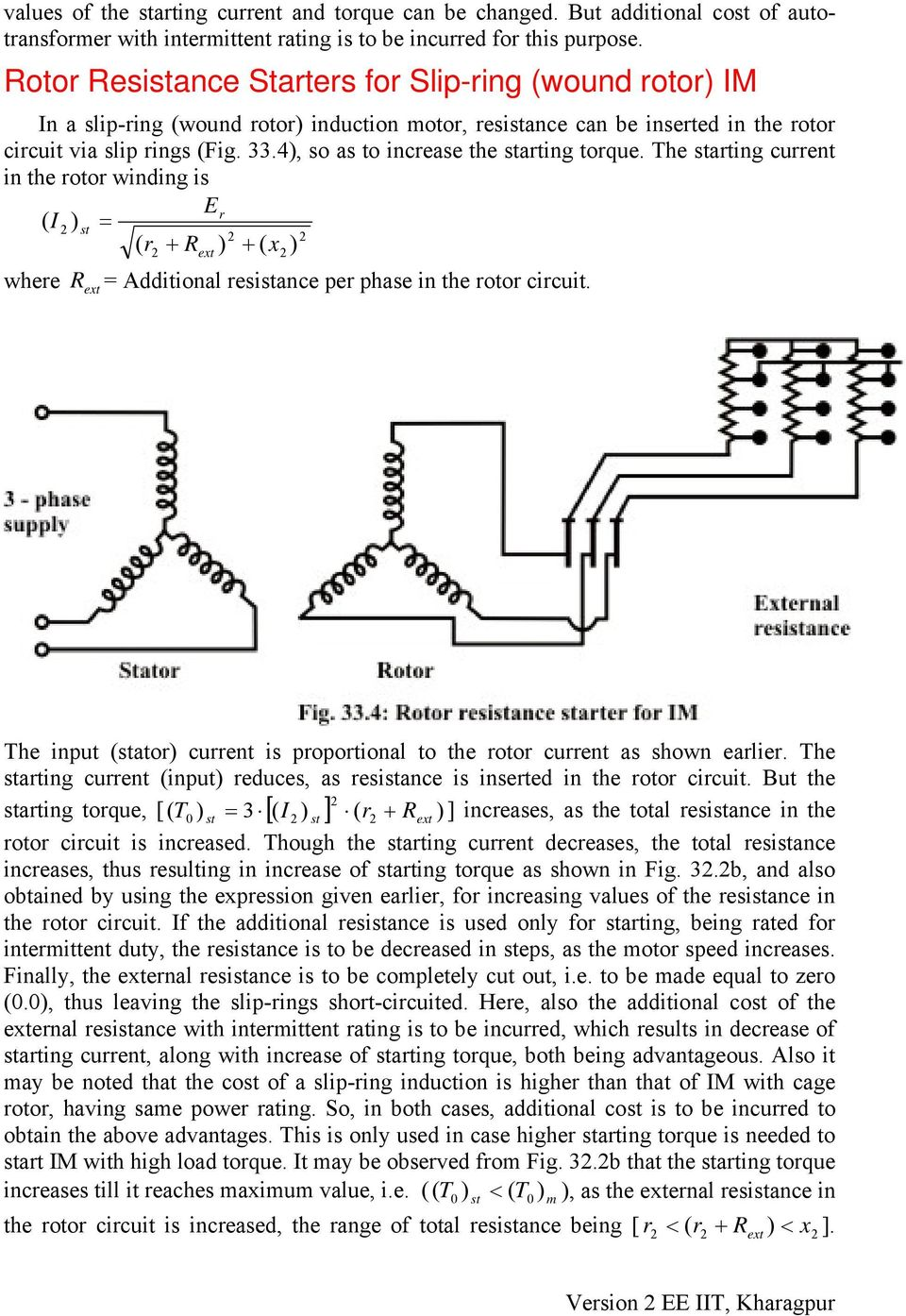 Module 8 Three Phase Induction Motor Version 2 Ee Iit Kharagpur Pdf Circuit Diagram Of Automatic Stater The Arting Current In Rotor Winding I Er R
