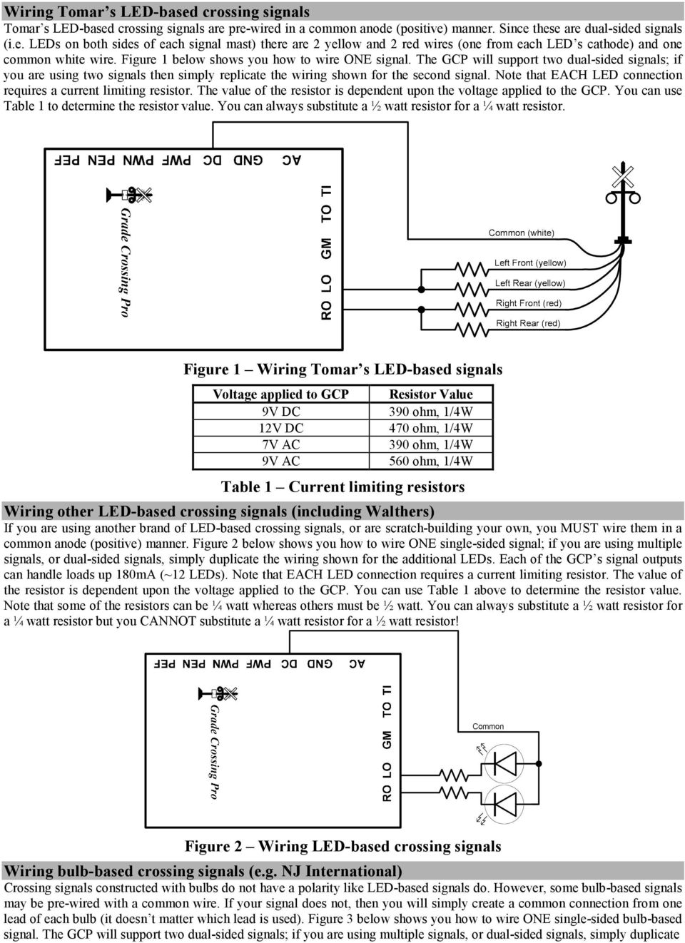 Sophisticated Model Railroad Electronics Pdf Led 9v Circuit Calculation How To Calculate Series Resistor Watts Note That Each Connection Requires A Current Limiting The Value Of