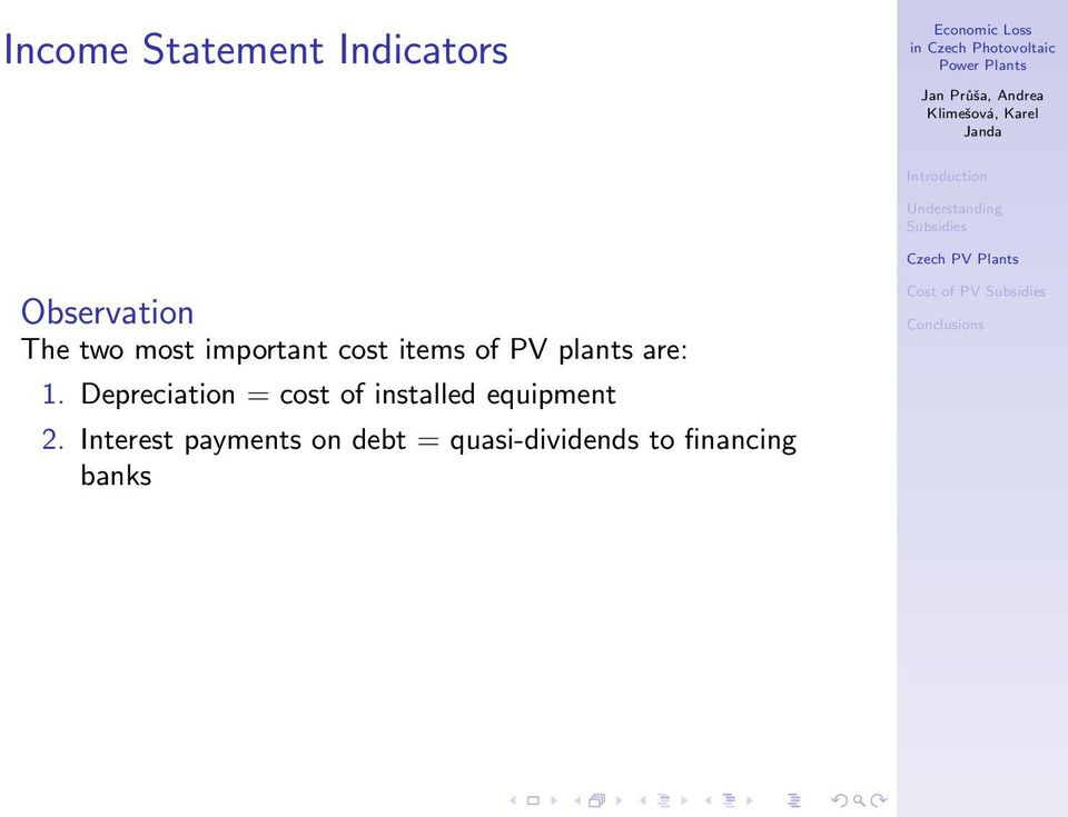 Depreciation = cost of installed equipment 2.