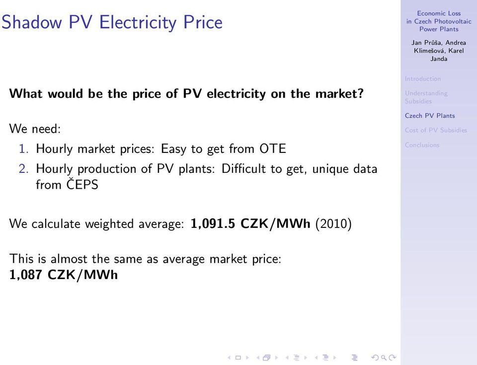 Hourly production of PV plants: Difficult to get, unique data from ČEPS We