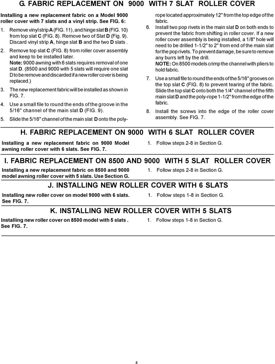 REPLACEMENT INSTRUCTIONS FOR AWNING - PDF