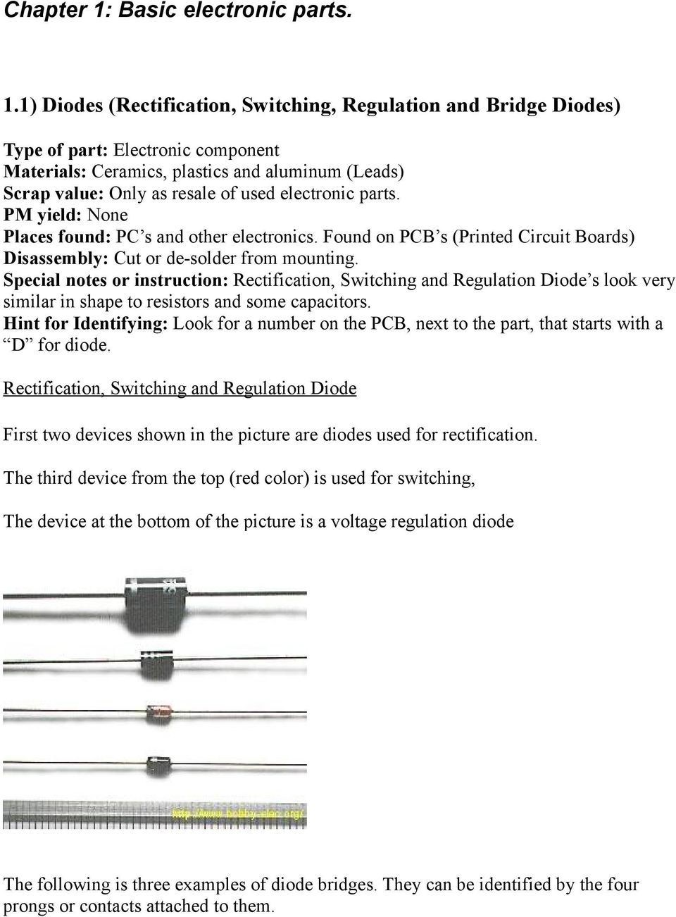 Scrapers Master Parts List Pdf Circuit Skills Board Etching Sponsored By Jameco Special Notes Or Instruction Rectification Switching And Regulation Diode S Look Very Similar In