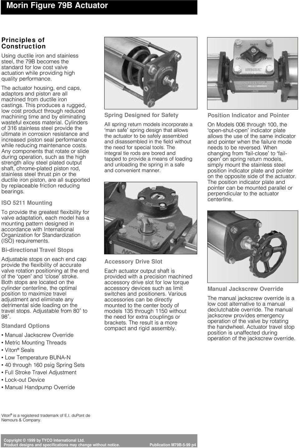 Ductile Iron/Stainless Steel Quarter-turn Spring Return and Double