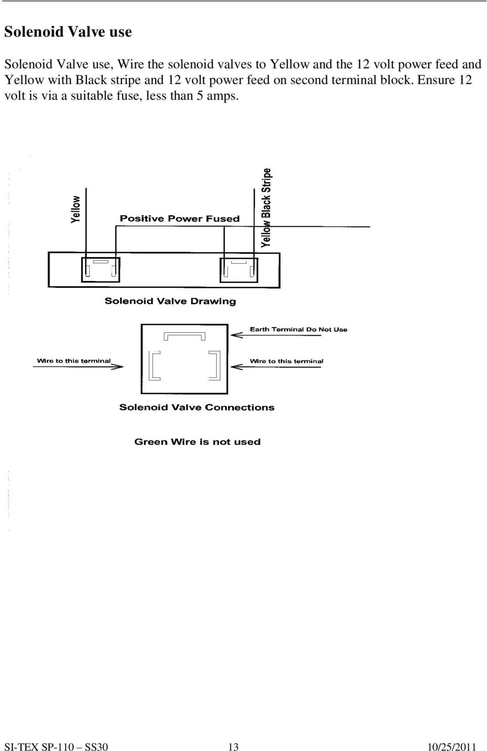 Sp 110 Autopilot Installation And Service Pdf 12 Volt Solenoid Wiring Diagram 5 Connection Power Feed On Second Terminal Block