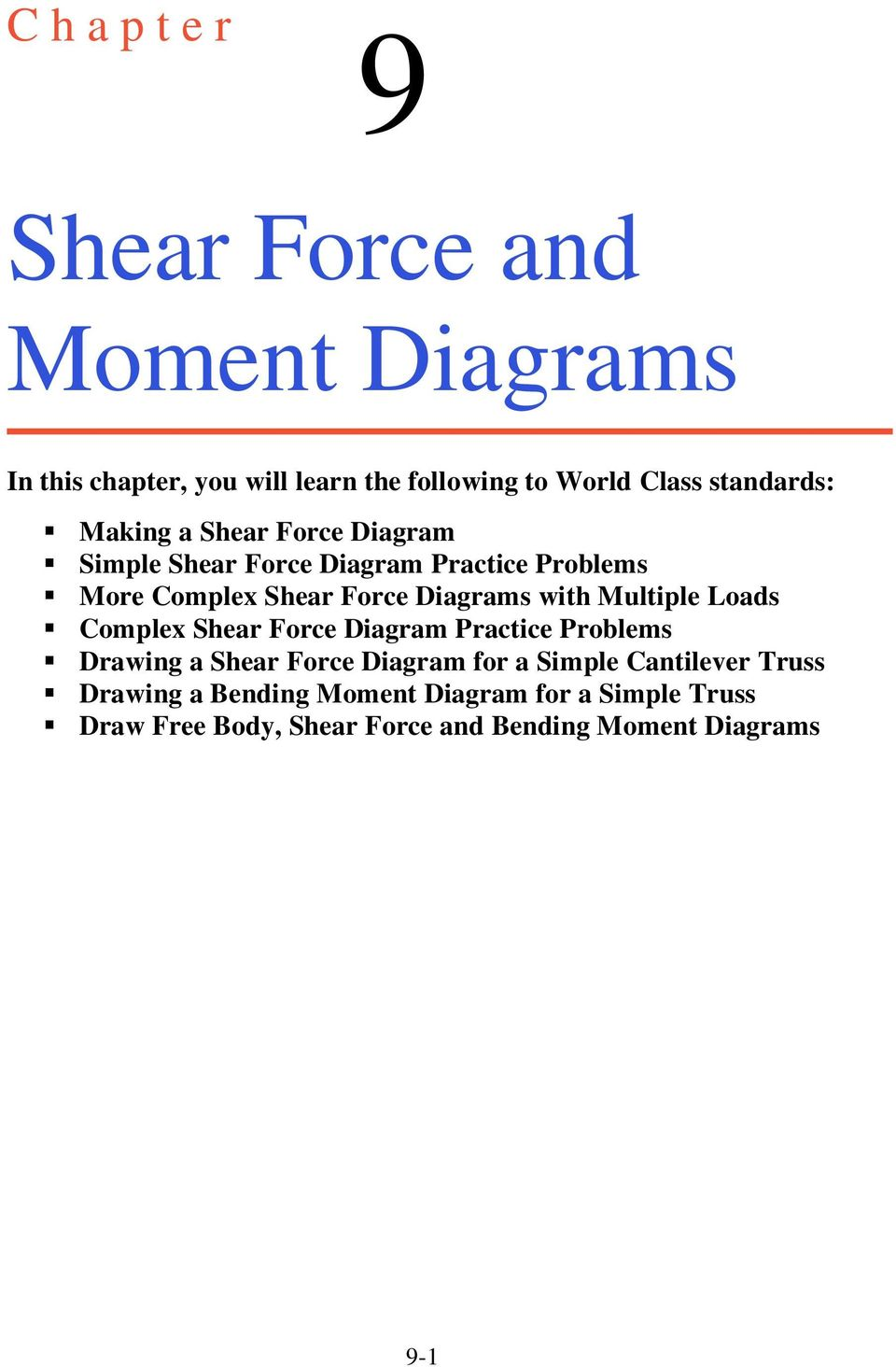 Shear Force And Moment Diagrams Pdf Bending With Multiple Loads Complex Diagram Practice Problems Drawing A For