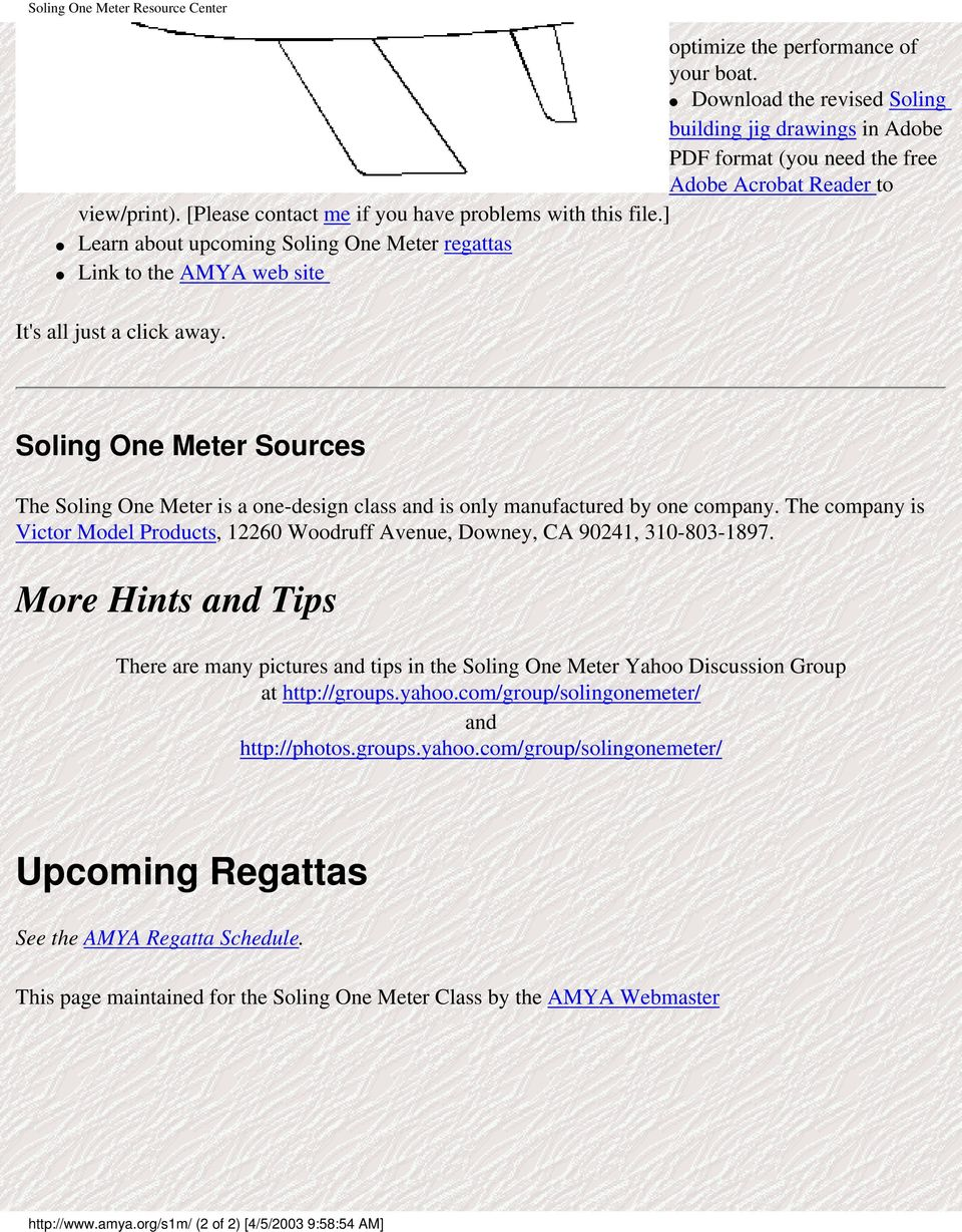 The Soling One Meter Resource Center - PDF