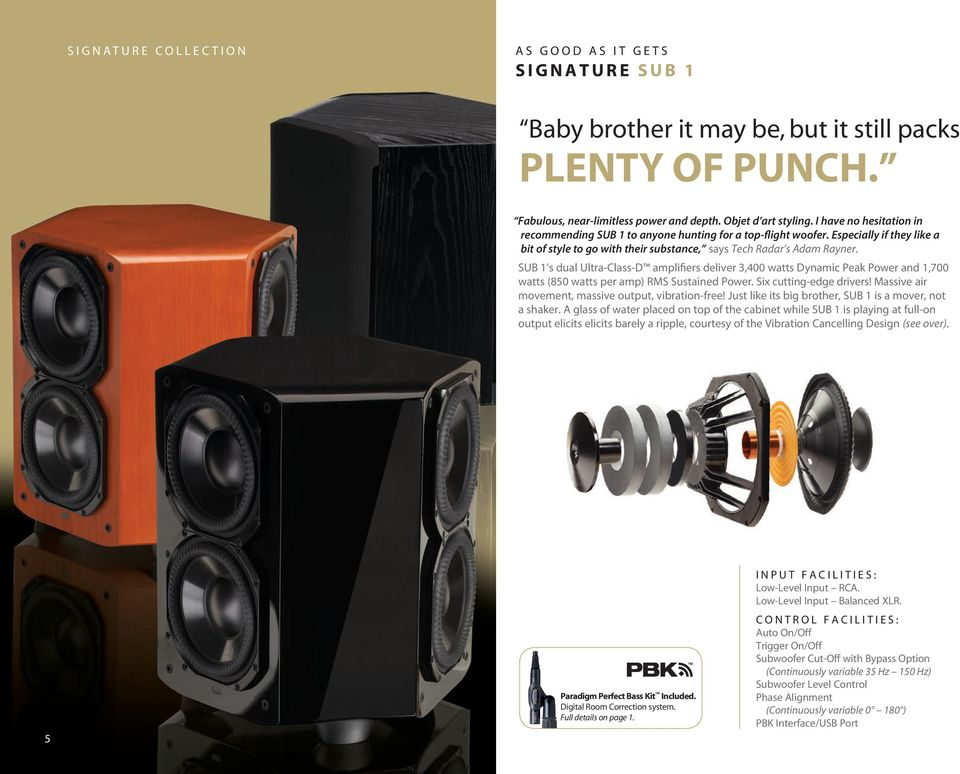 BASS NOTES A SUBWOOFER FOR EVERY TASTE AND EVERY SPACE - PDF