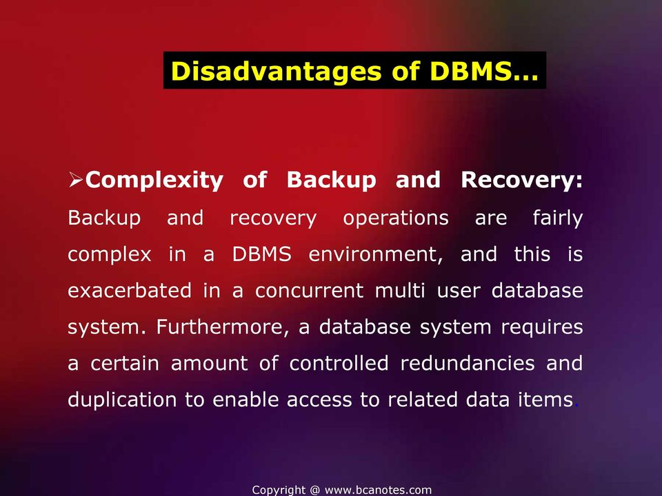 concurrent multi user database system.