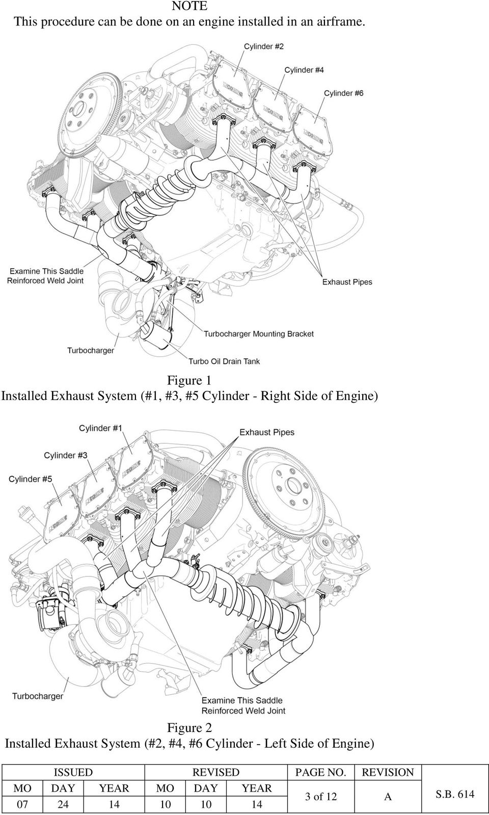 Mandatory Service Bulletin Pdf Buell Rotax Engine Diagram Figure 1 Installed Exhaust System 3 5 Cylinder