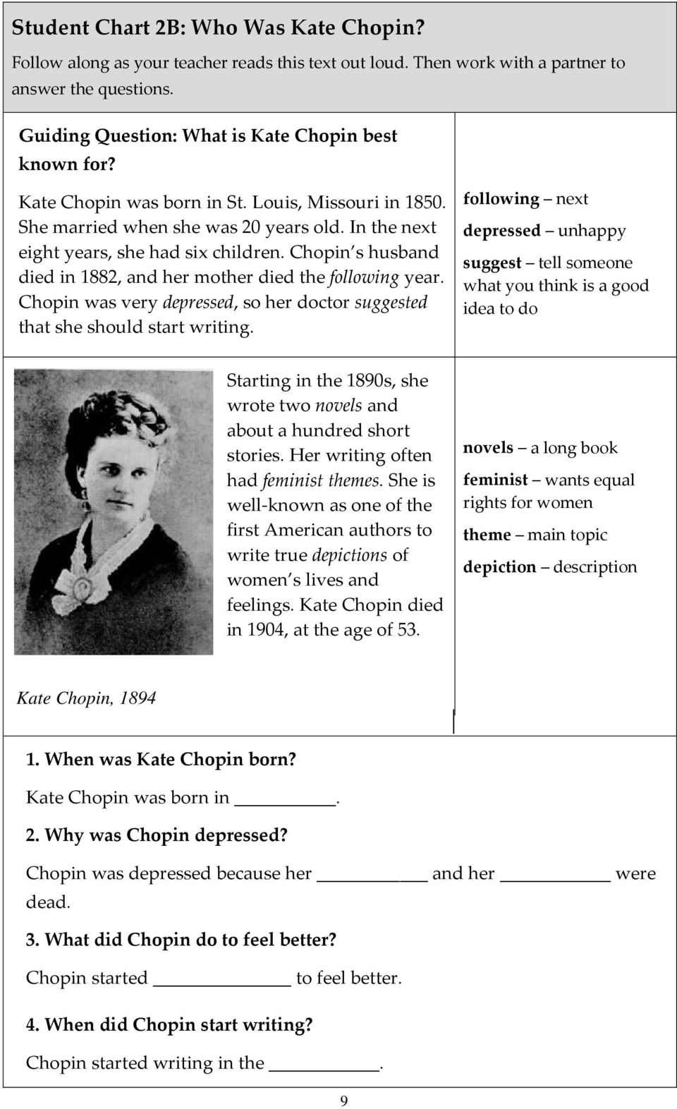kate chopin feminist writer