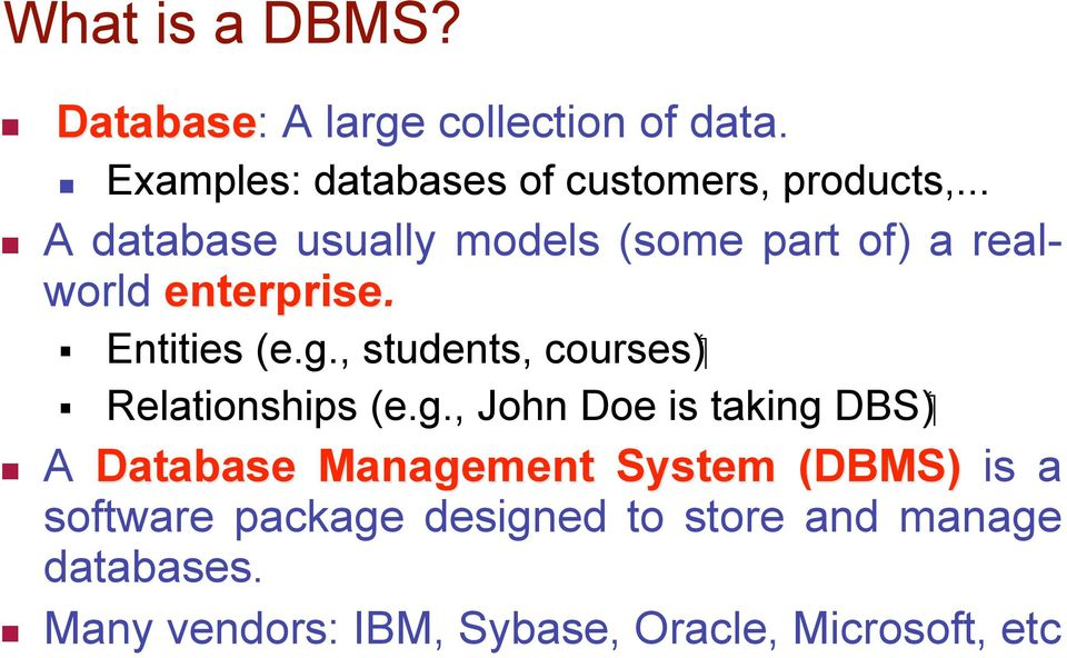 , students, ( DBS Relationships (e.g.