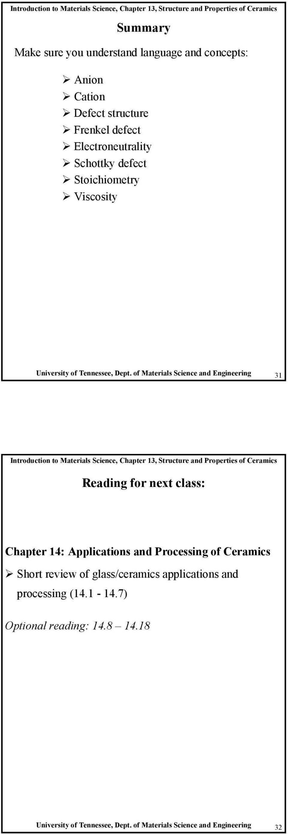 Introduction to Materials Science, Chapter 7, Structure and
