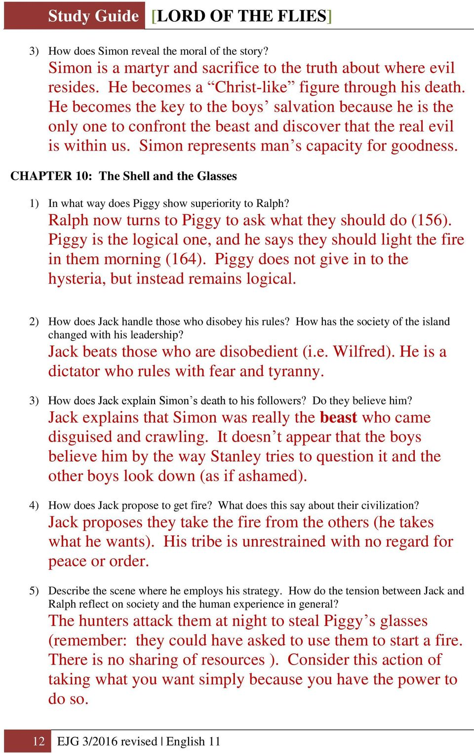 questions to ask about lord of the flies