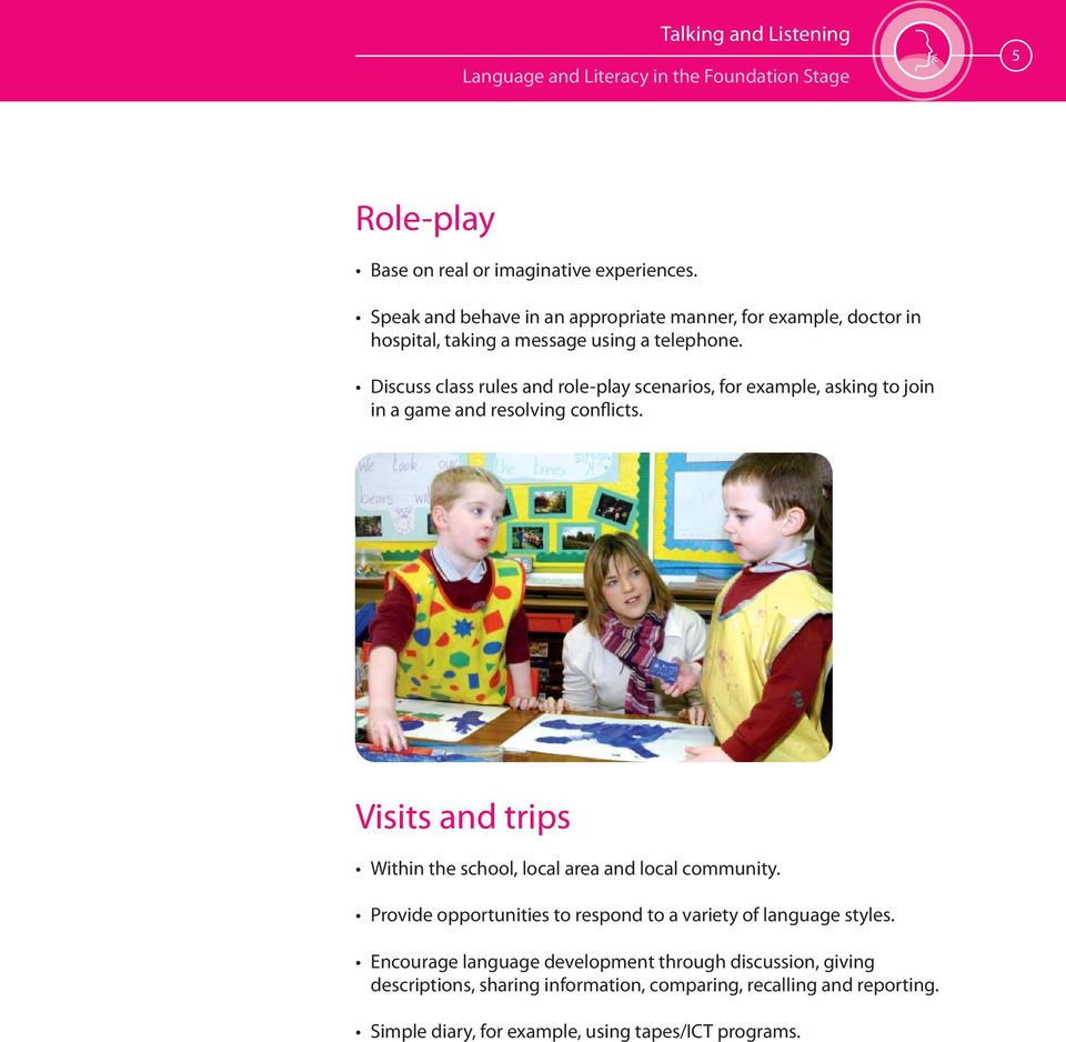 Discuss class rules and role-play scenarios, for example, asking to join in a game and resolving conflicts.