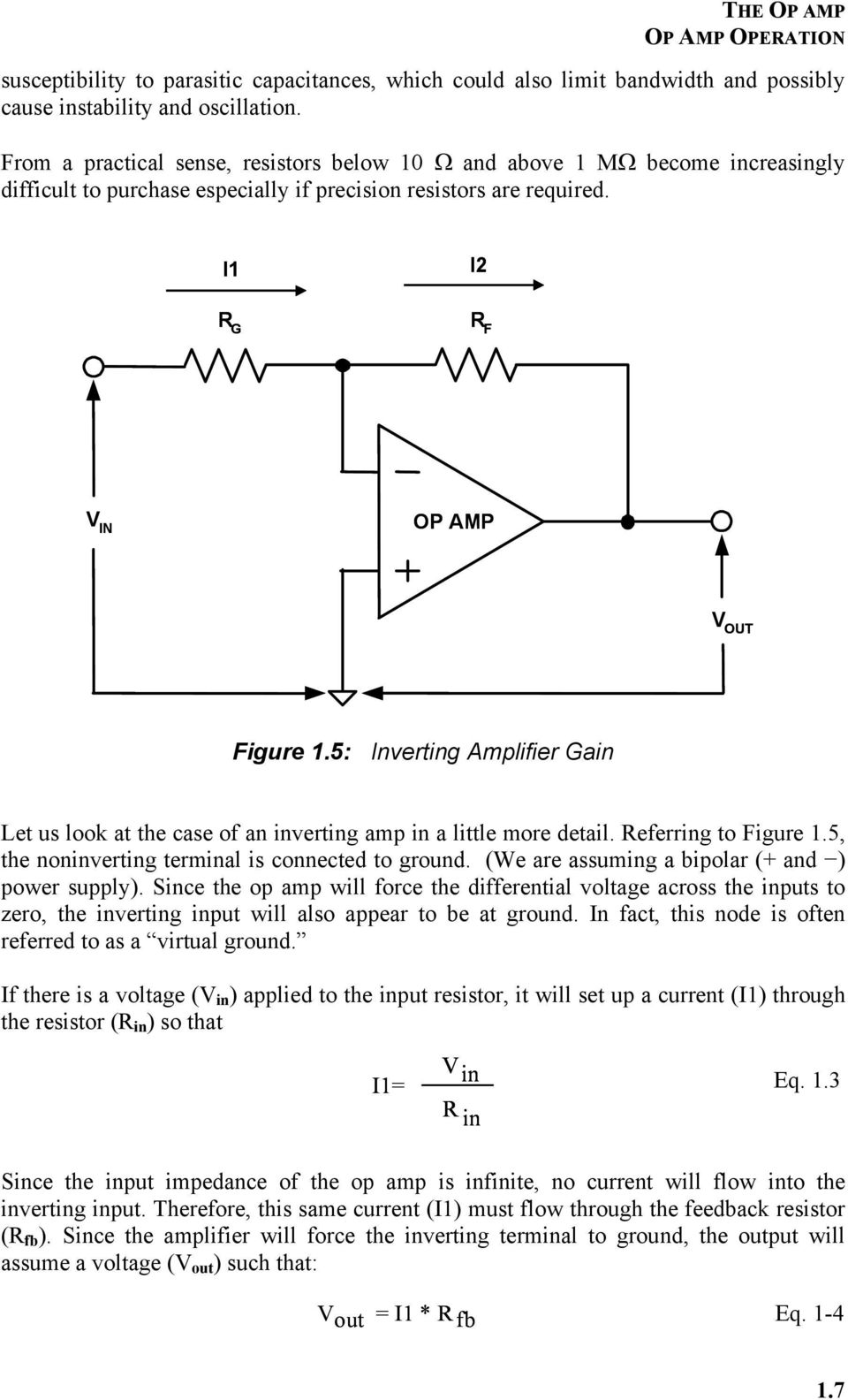 Chapter 1 The Op Amp Pdf Practical Inverting Amplifier Using 741 5 Gain Let Us Look At Case Of An In