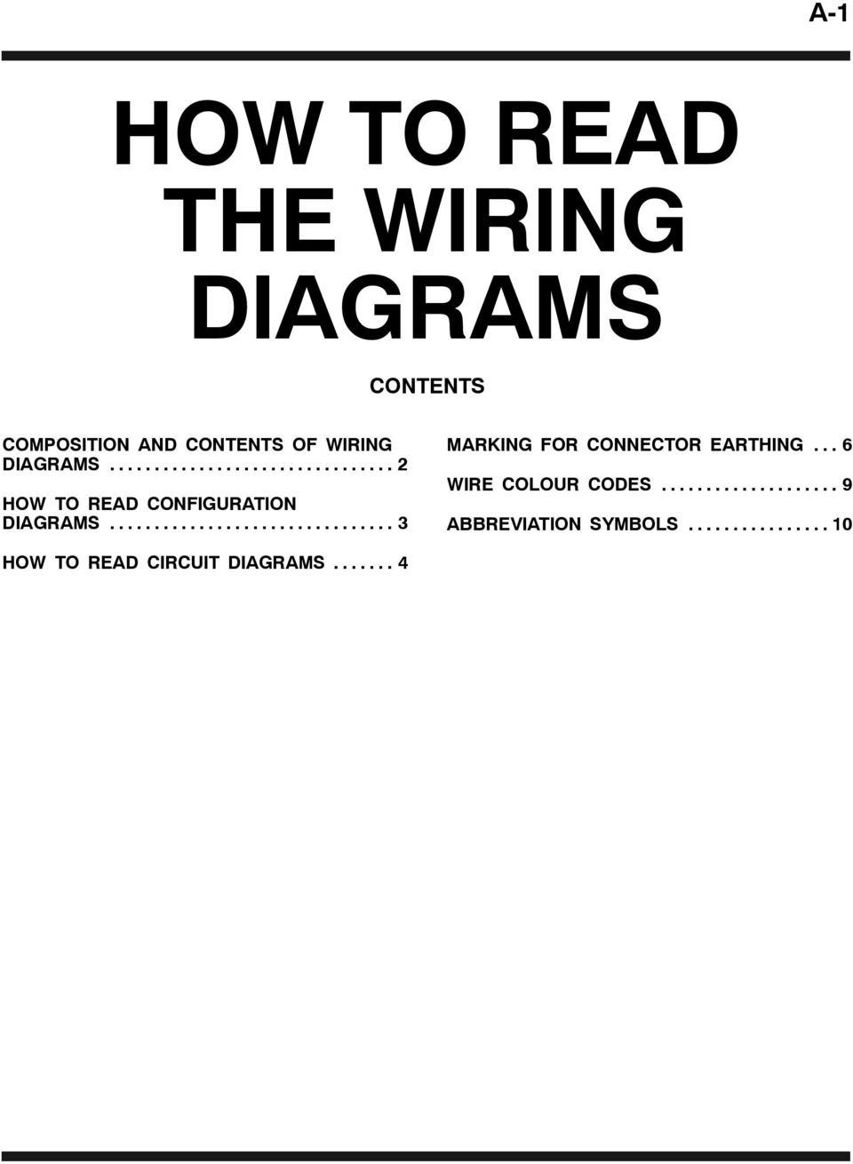 How To Read The Wiring Diagrams Pdf 2009 Subaru Legacy Engine Compartment Diagram 2 Configuration