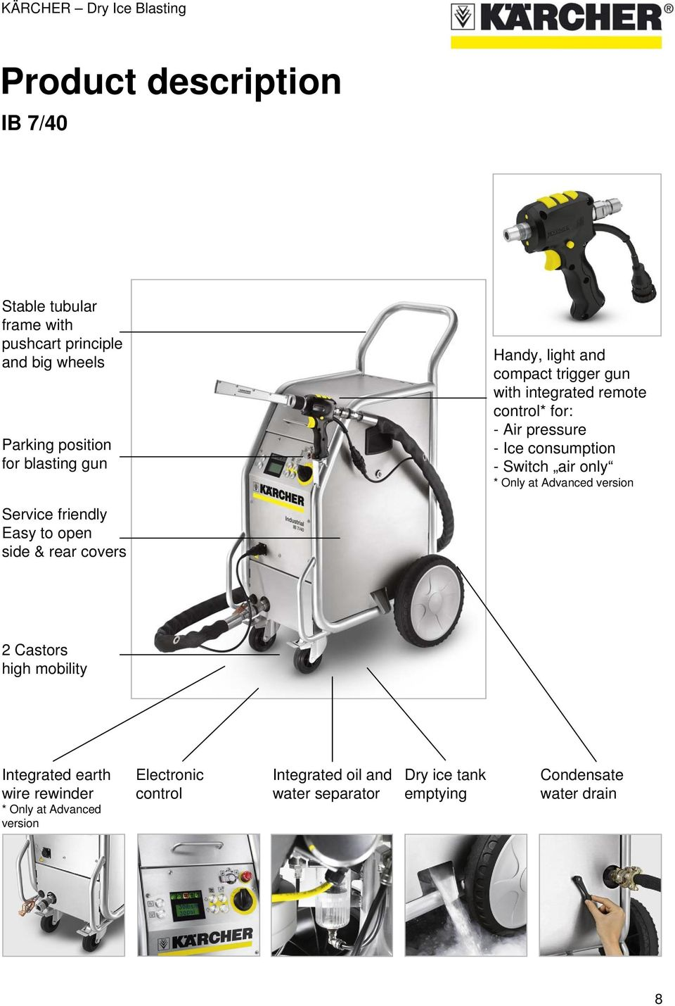 Krcher Dry Ice Blasting Pdf Drainage Pump Karcher Sp 3 Dirt Only At Advanced Version Service Friendly Easy To Open Side Rear Covers 2 Castors High