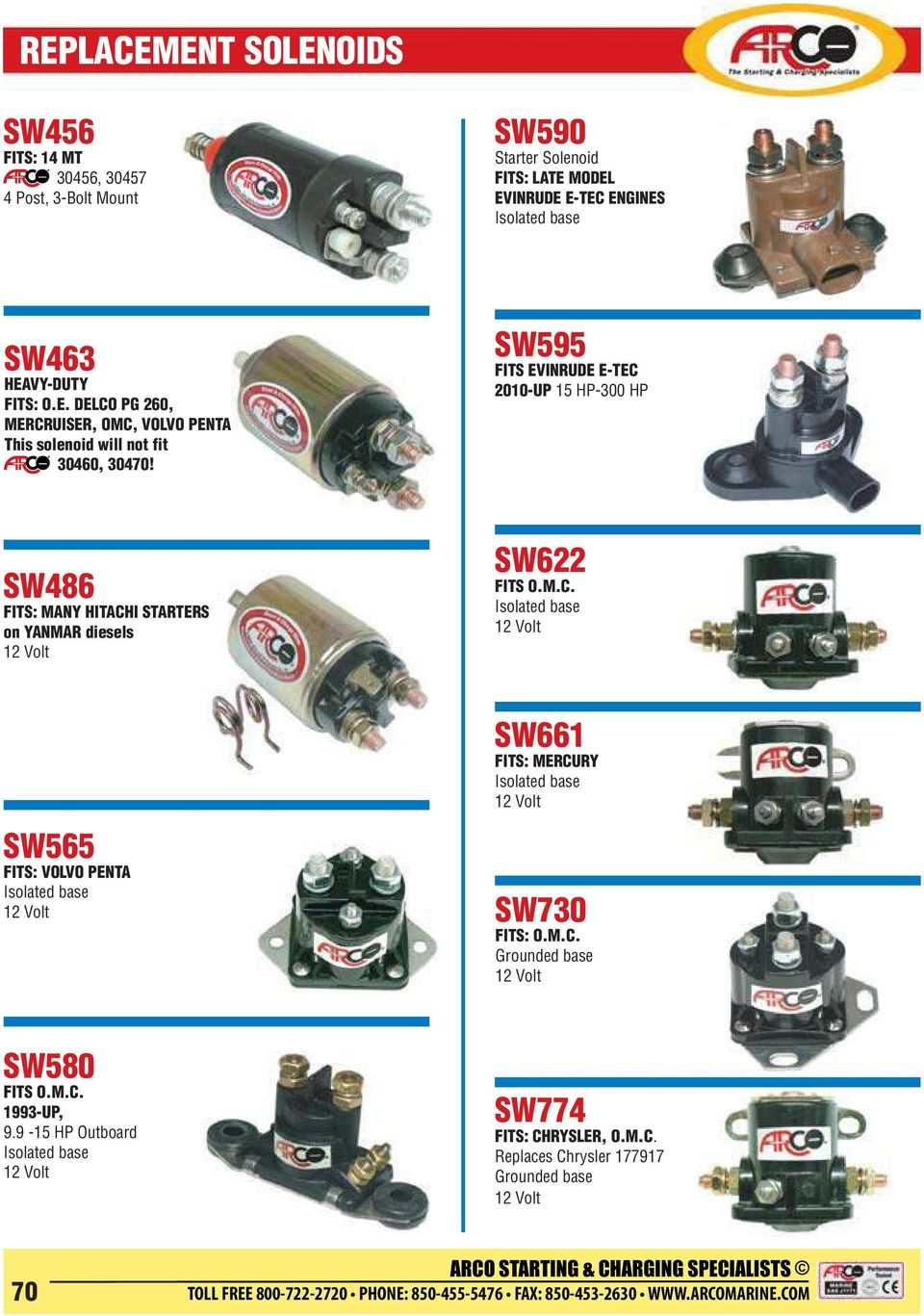 Replacement Solenoids Pdf Wiring Diagram Evinrude 2015 E Tec 40 Sw595 Fits 2010 Up 15 Hp 300 Sw486