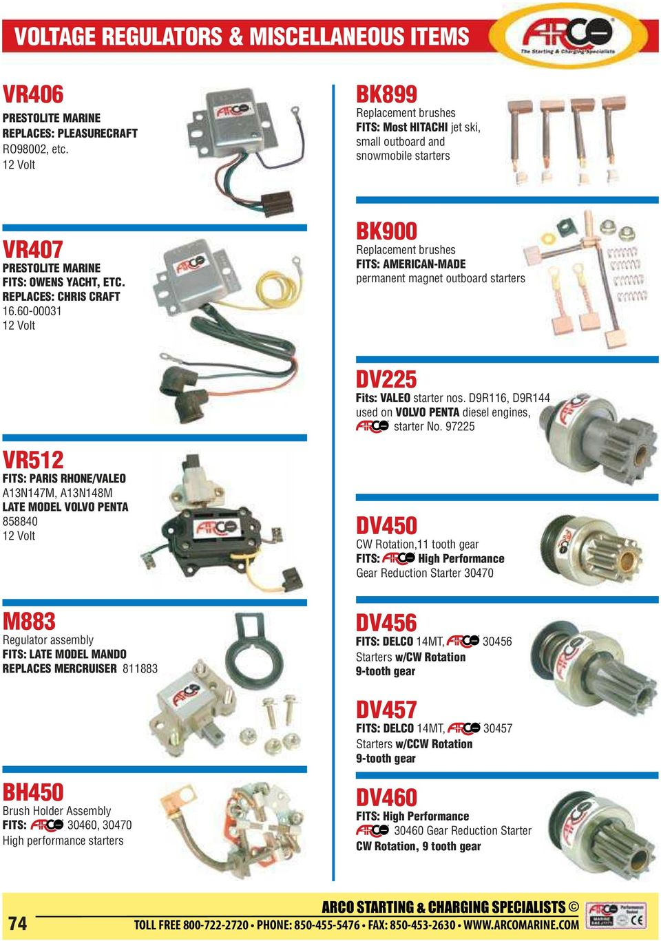 Replacement Solenoids Pdf Valeo Starter Generator Wiring Diagram 60 00031 Bk900 Brushes Fits American Made Permanent Magnet Outboard Starters Dv225
