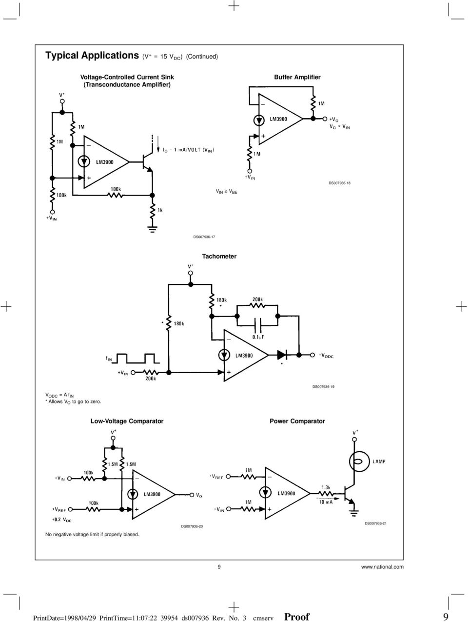 Lm2900lm3301lm3900 Lm2900 Lm3900 Lm3301 Quad Amplifiers Channel Audio Mixer Circuit Using Simple Schematic Diagram Low Voltage Comparator Power No Negative Limit If Properly Biased
