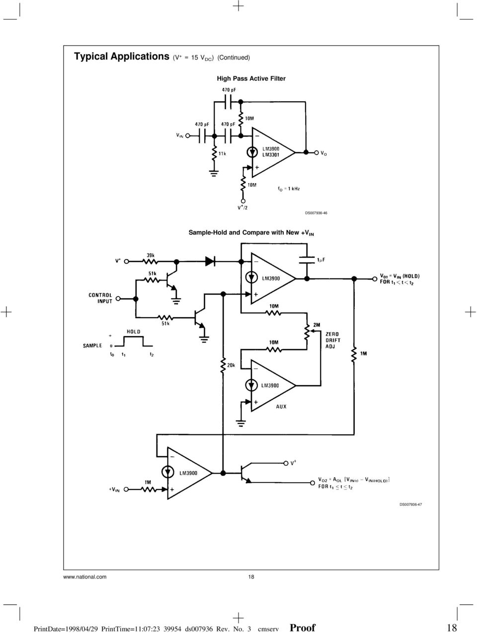 Lm2900lm3301lm3900 Lm2900 Lm3900 Lm3301 Quad Amplifiers Channel Audio Mixer Circuit Using Simple Schematic Diagram Ds007936 47 National
