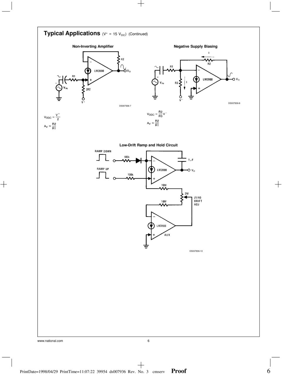 Lm2900lm3301lm3900 Lm2900 Lm3900 Lm3301 Quad Amplifiers Channel Audio Mixer Circuit Using Simple Schematic Diagram Ds007936 10 National