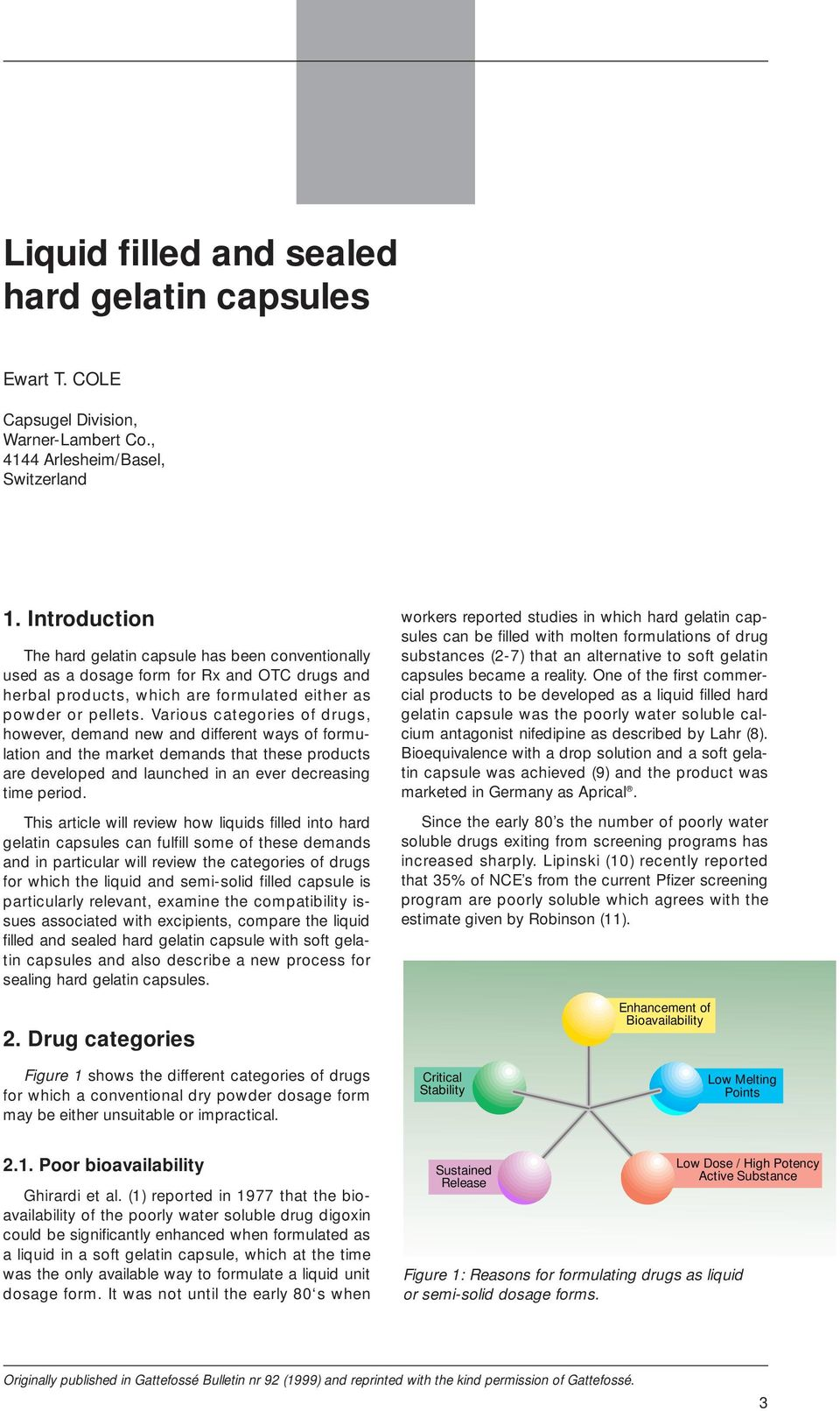 Liquid filled and sealed hard gelatin capsules - PDF