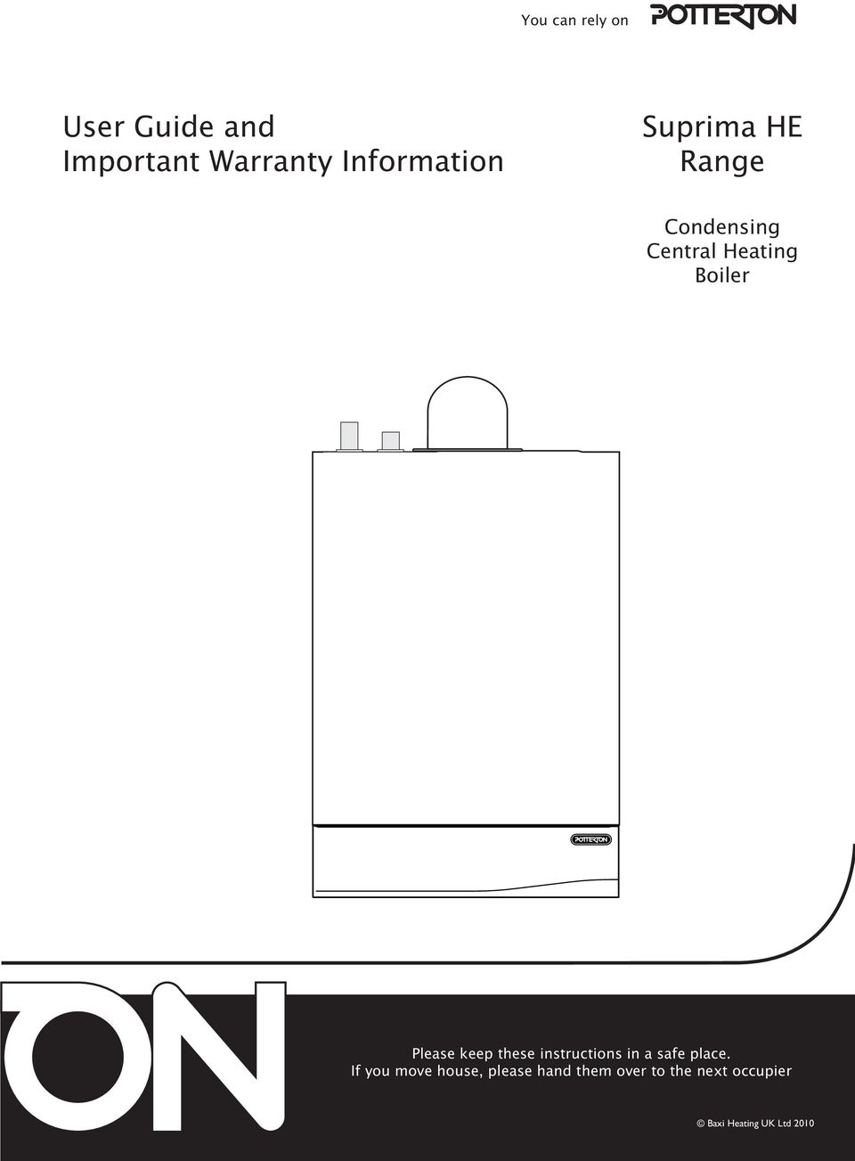 User Guide and Important Warranty Information. Suprima HE Range ...