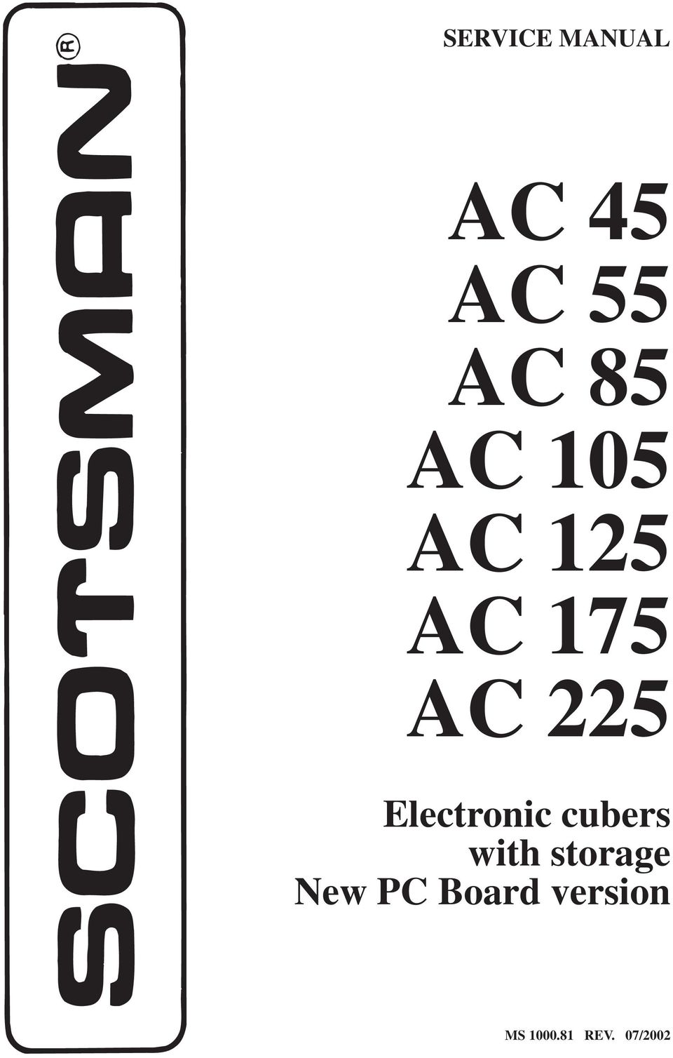 Ac 45 55 85 105 125 175 Pdf Ice O Matic Wiring Diagram 225 Electronic Cubers With Storage