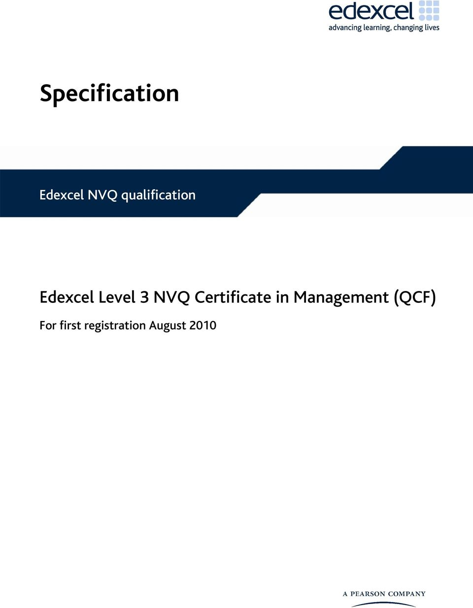 NVQ Certificate in Management