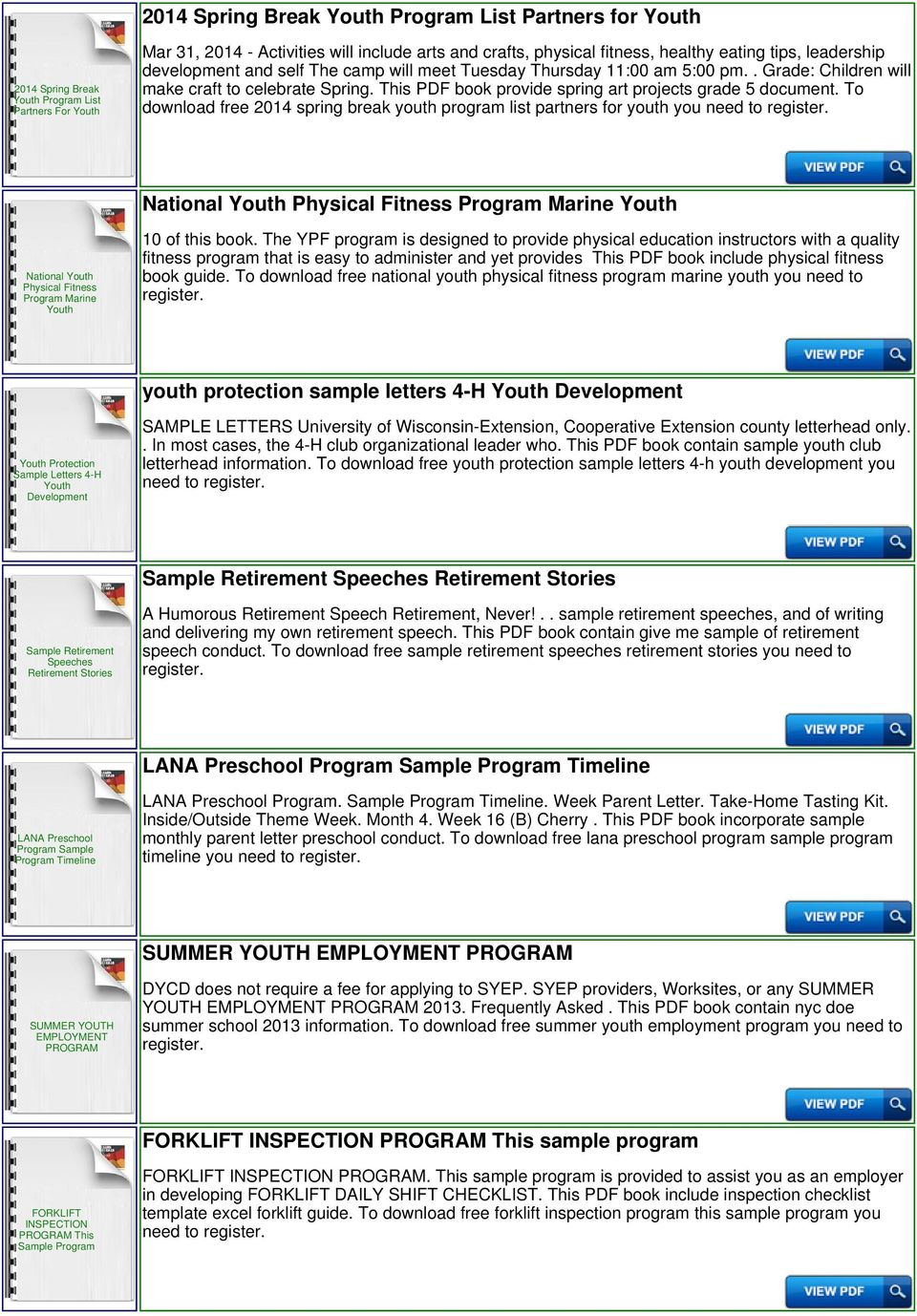 To download free 2014 spring break youth program list partners for youth  you need to National