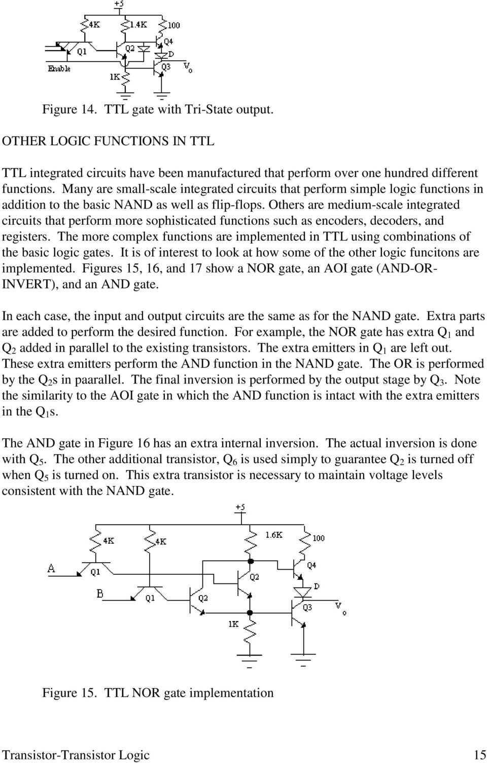 Chapter 6 Transistor Logic 3 Emitter Pdf Symmetric 5v To Cmos Ttl Level Shifter Others Are Medium Scale Integrated Circuits That Perform More Sophisticated Functions Such As Encoders