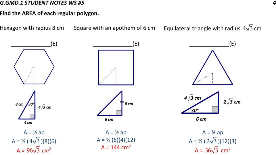 G.GMD.1 STUDENT NOTES WS #5 1 REGULAR POLYGONS - PDF