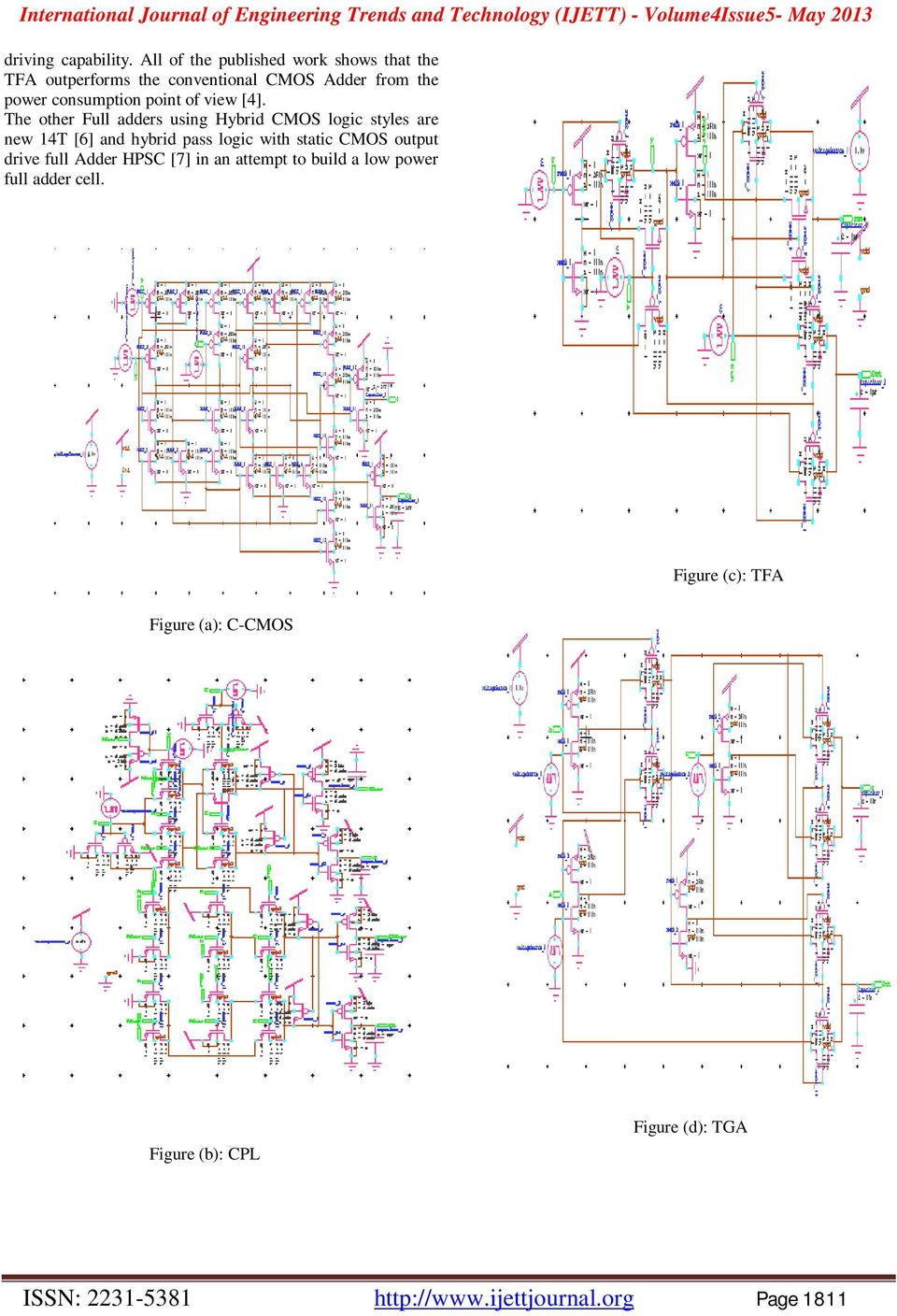 Design Of Low Power One Bit Hybrid Cmos Full Adder Cells Pdf Thus A 1bit Can Be Realized By The Following Circuit Point View 4