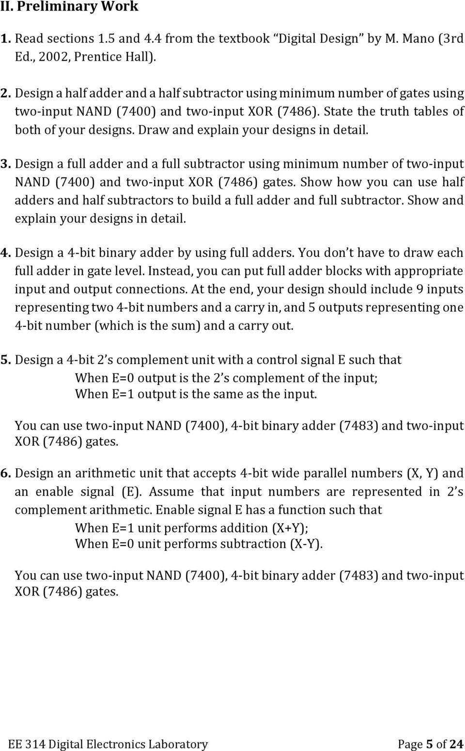 Experiment 4 Parallel Adders Subtractors And Complementors Pdf Bit Binary Full Adder Logic Gate Analog Digital Ic Design Draw Explain Your Designs In Detail 3 A