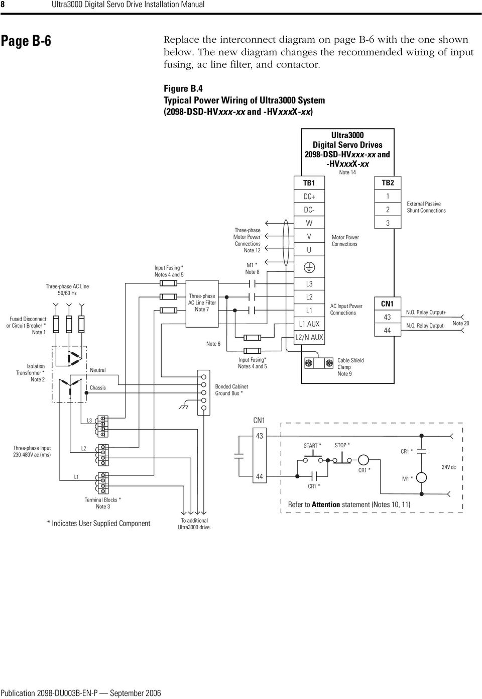 Servo Drive Motor Wiring Diagram Ultra3000 Digital Drives Pdf 4 Typical Power Of System 2098 Dsd Hvxxx Xx And 13 Installation Manual