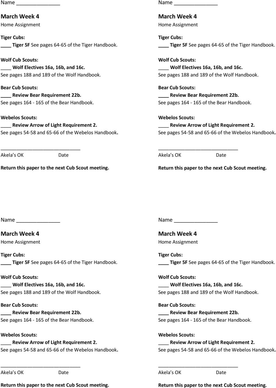 Cub Scout Den Meeting Outline Pdf