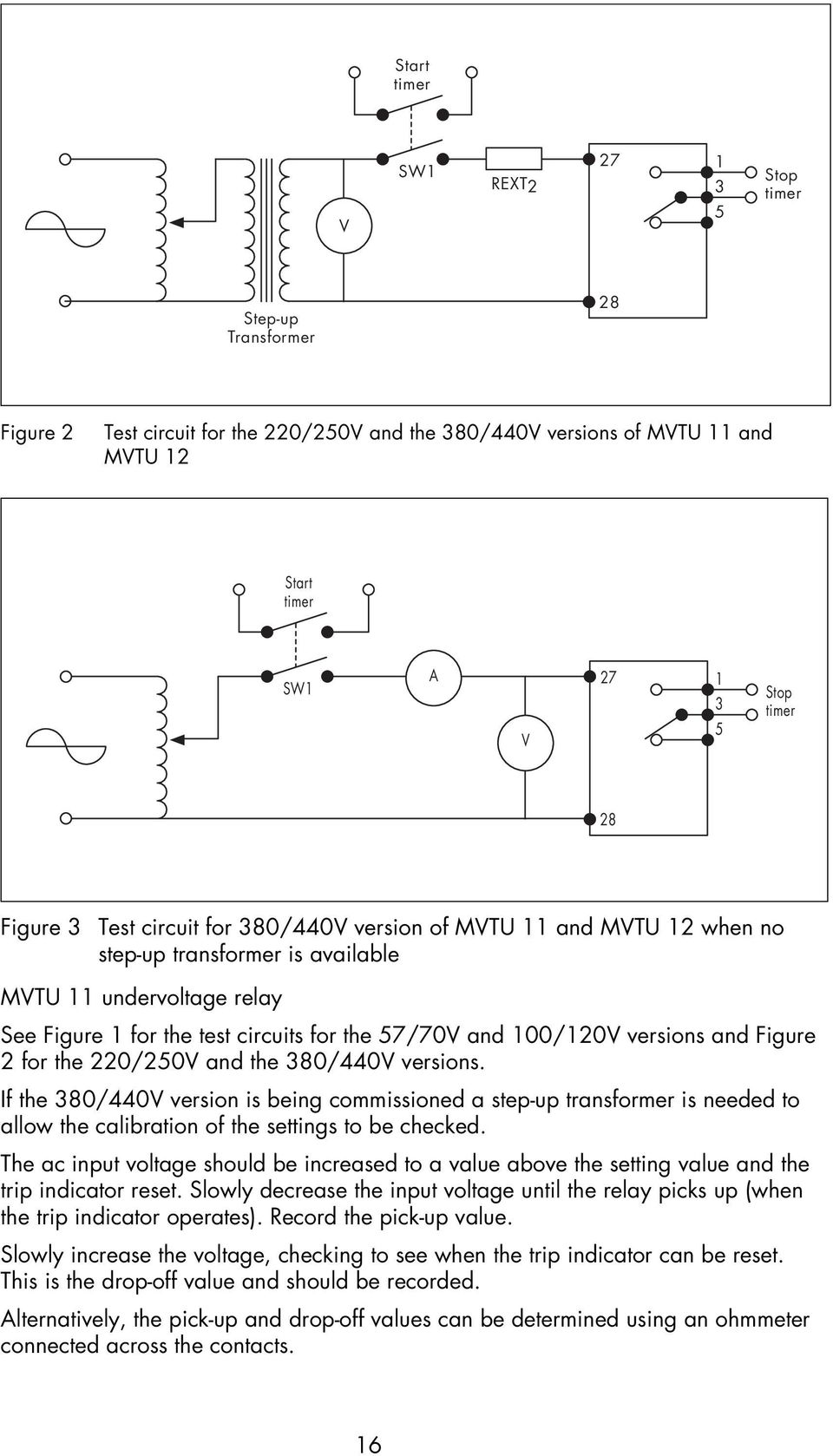 Service Manual Type Mvtu Definite Time Delayed Relays Pdf Relay Coil Pickup Voltage Versions And Figure 2 For The 220 250v 380 440v