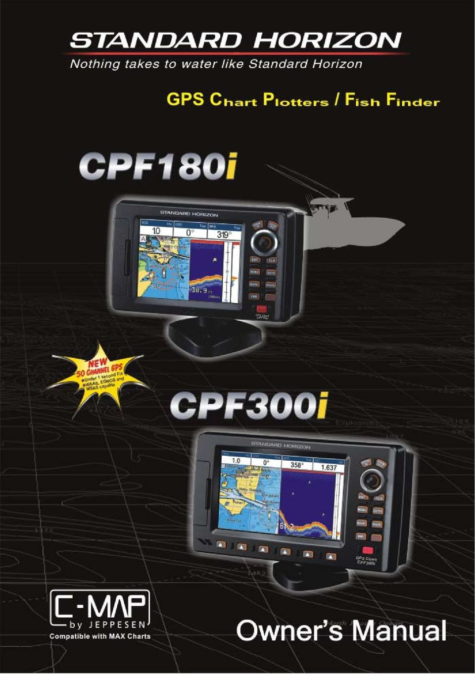 Color GPS Chart Plotters/Fish Finder  CPF180i CPF300i  Owner's