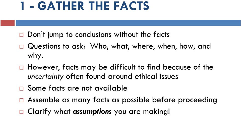 STEPS OF THE ETHICAL DECISION-MAKING PROCESS - PDF