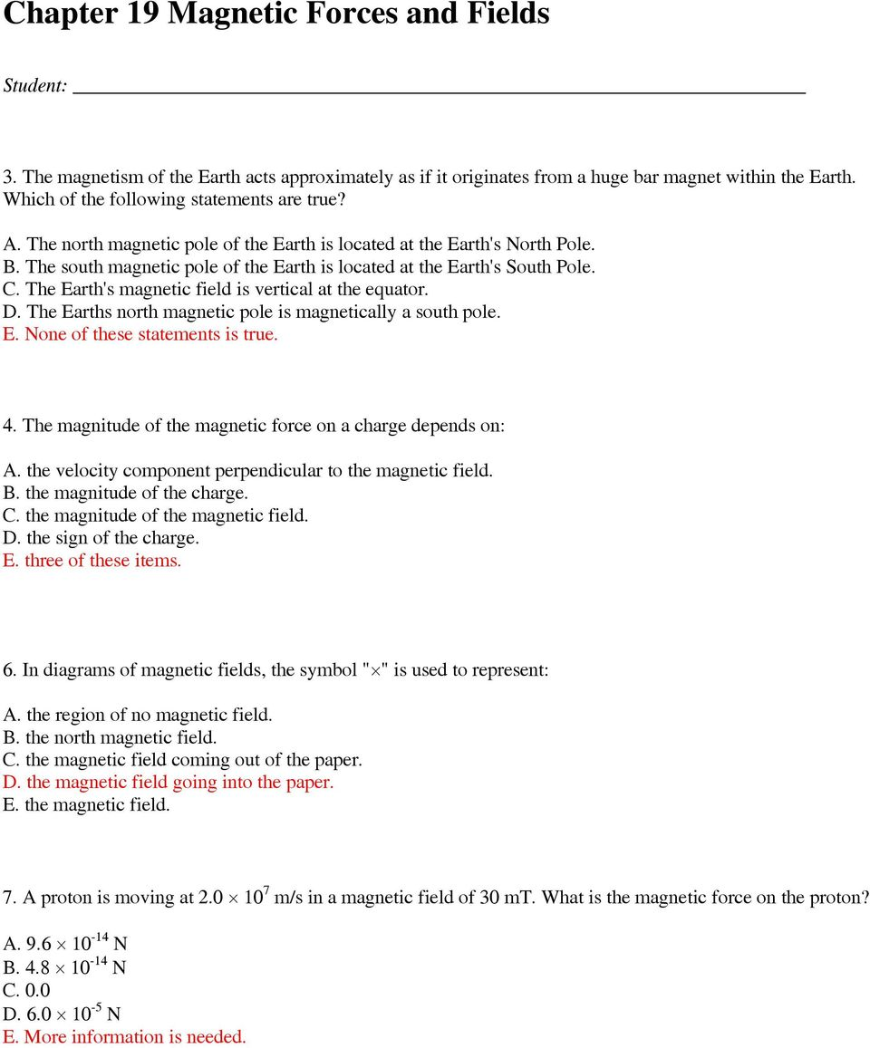 Chapter 19 Magnetic Forces And Fields Pdf