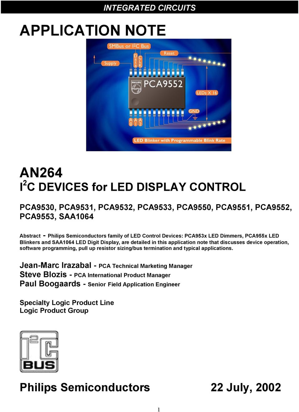 Integrated Circuits Pca9530 Pca9531 Pca9532 Pca9533 Pca9550 Circuit Calculator Led Resistor Calculation Equalizer Discusses Device Operation Software Programming Pull Up Sizing Bus Termination And Typical